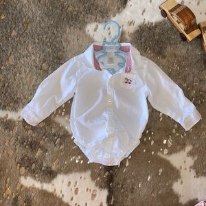 Janie and Jack Button Down Onesie 6-12M